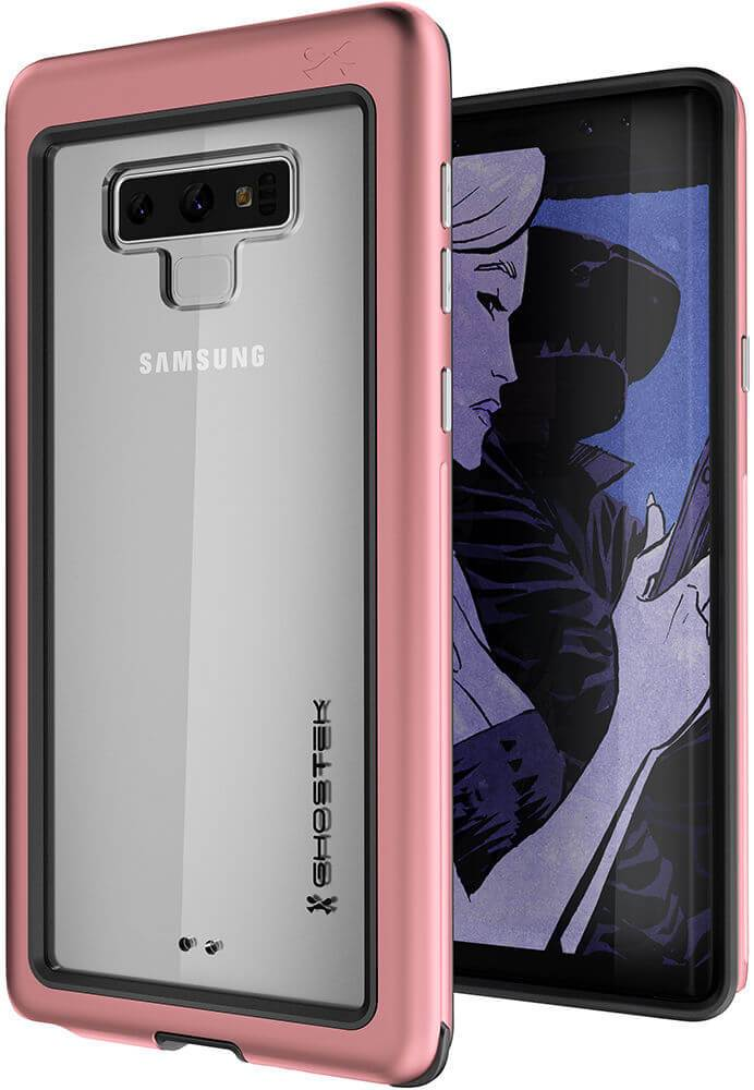 Galaxy Note 9, Ghostek Atomic Slim Case Full Body TPU [Shockproof] | Pink