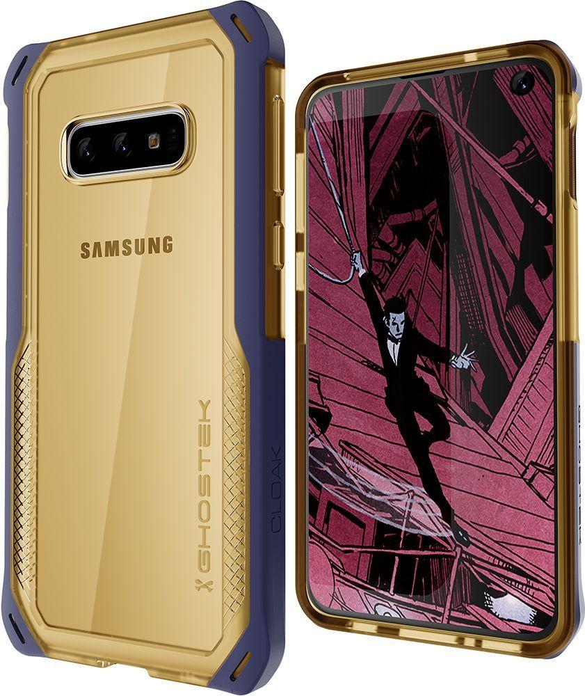 Galaxy S10e Clear Protective Case | Cloak 4 Series [Blue/Gold]