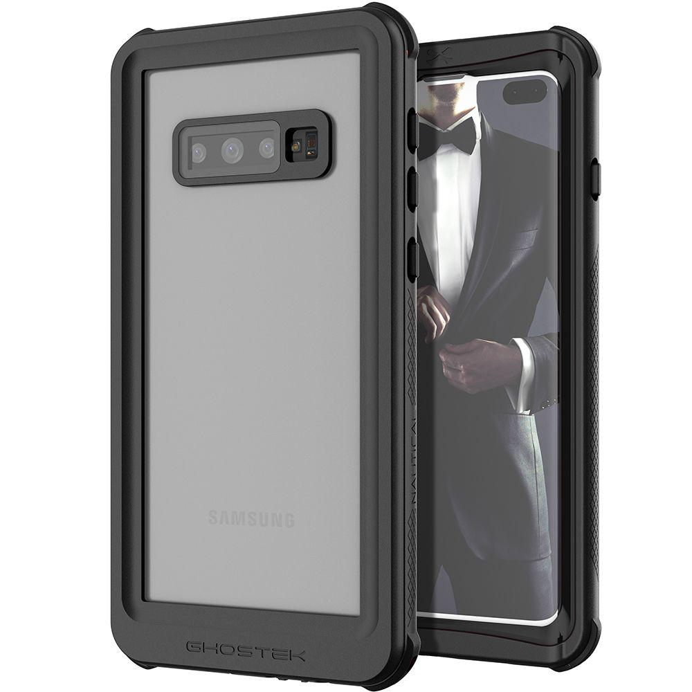 Galaxy S10+ Plus Rugged Waterproof Case | Nautical 2 Series [Black]