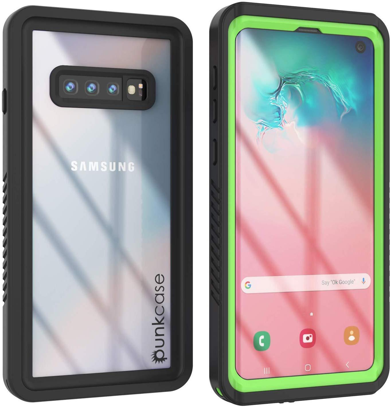 Galaxy S10+ Plus Water/Shockproof Screen Protector Case [Light Green]