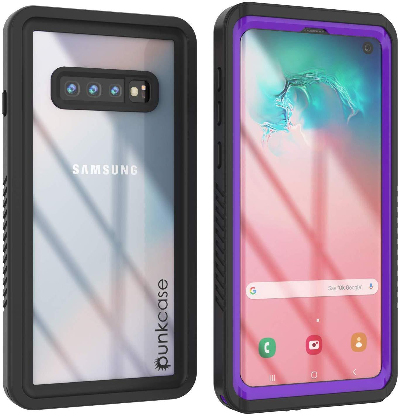 Galaxy S10+ Plus Water/Shockproof Slim Screen Protector Case [Purple]