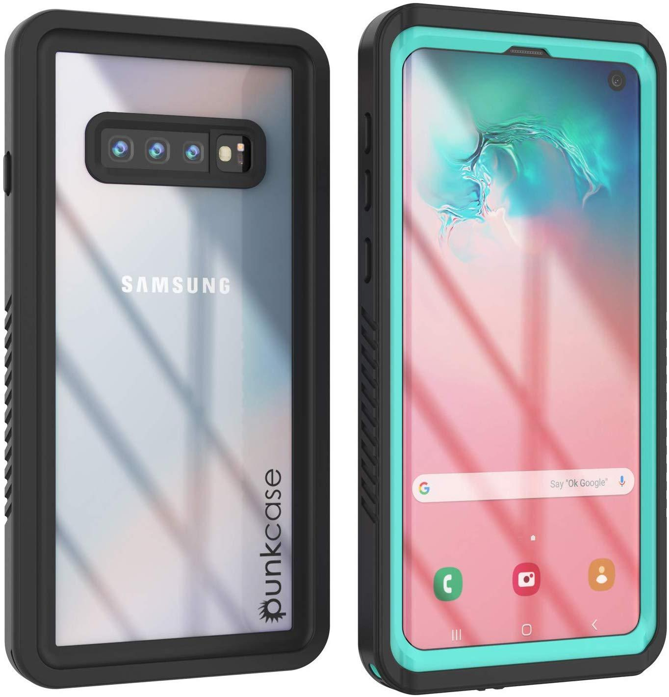 Galaxy S10+ Plus Water/Shock/Snowproof | Screen Protector Case [Teal]
