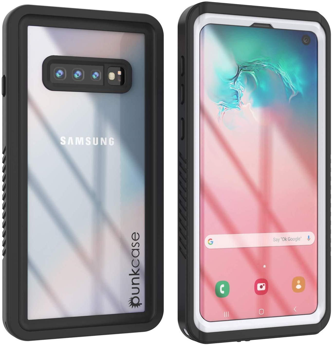 Galaxy S10+ Plus Water/Shock/Snow/dirt proof Punkcase Slim Case [White]