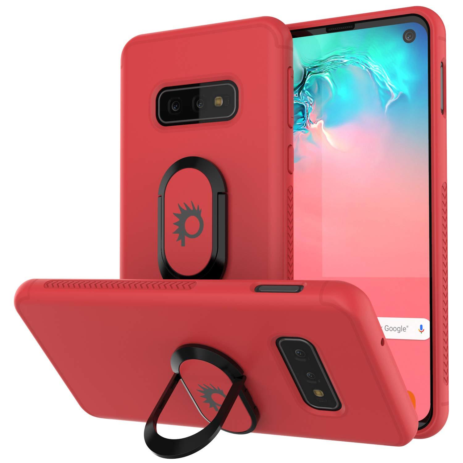 Galaxy S10e Case, Punkcase Magnetix Protective TPU Cover W/ Kickstand, Sceen Protector[Red]