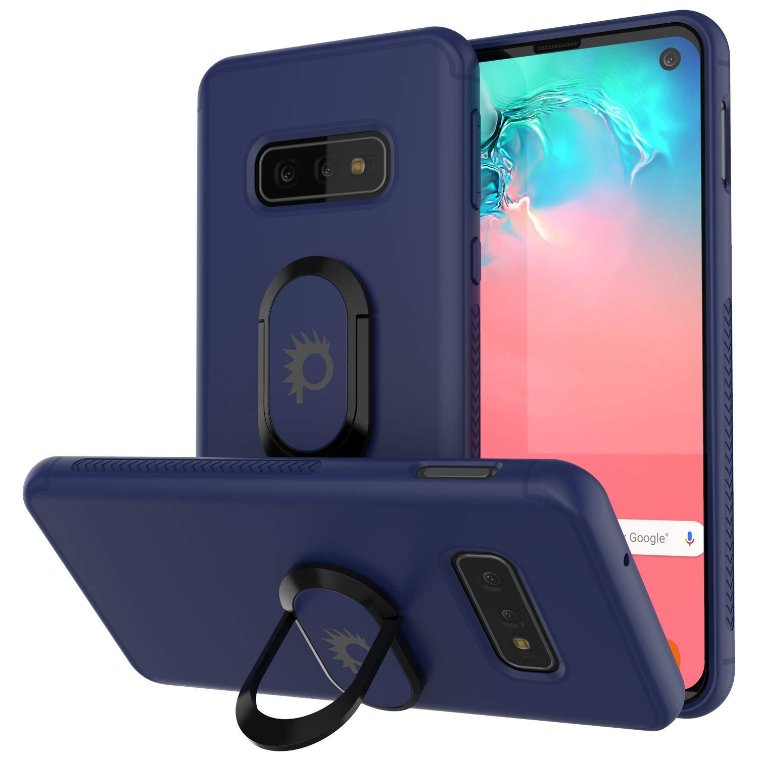 Galaxy S10e Case, Punkcase Magnetix Protective TPU Cover W/ Kickstand, Sceen Protector[Blue]