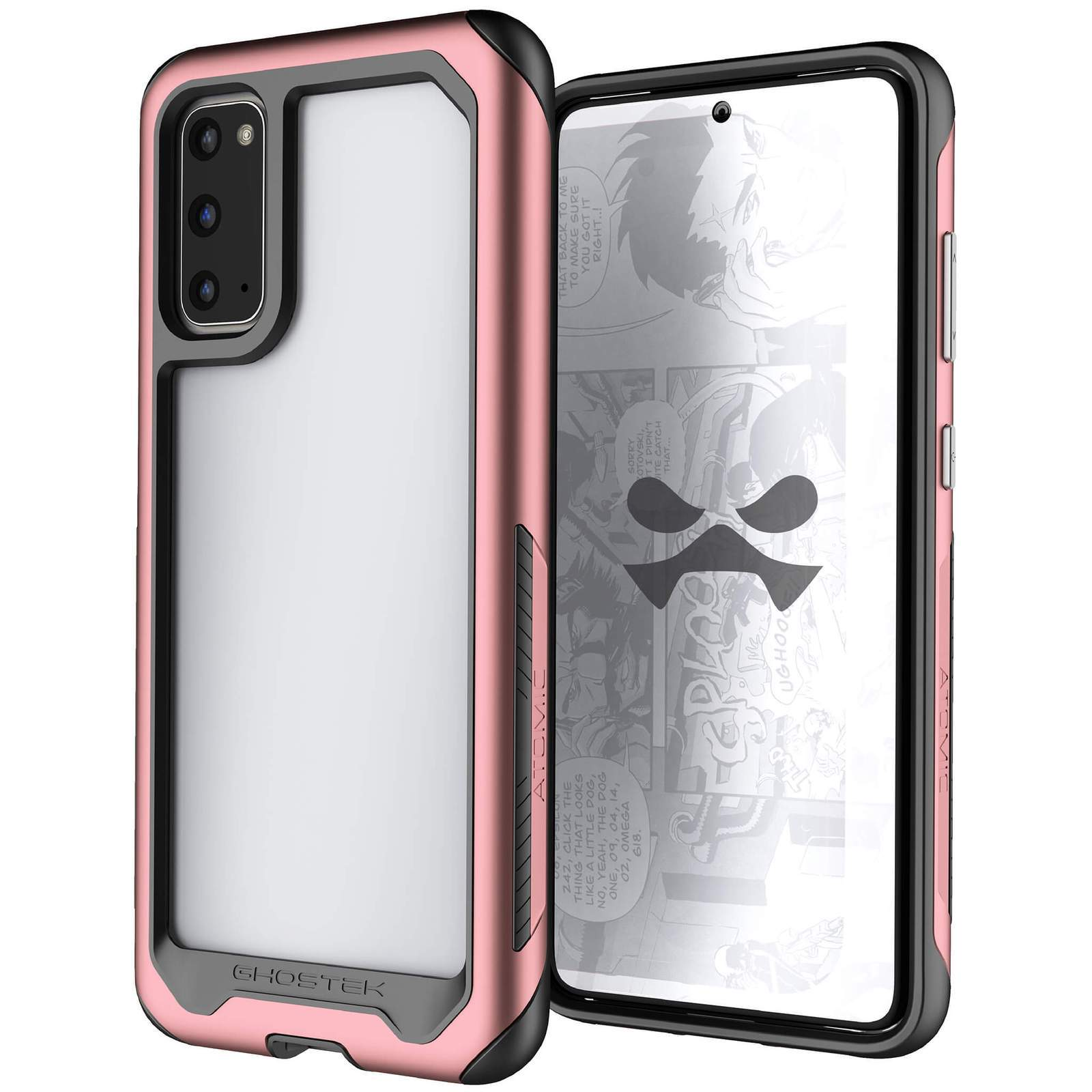 Galaxy S20 Military Grade Aluminum Case | Atomic Slim Series [Pink]