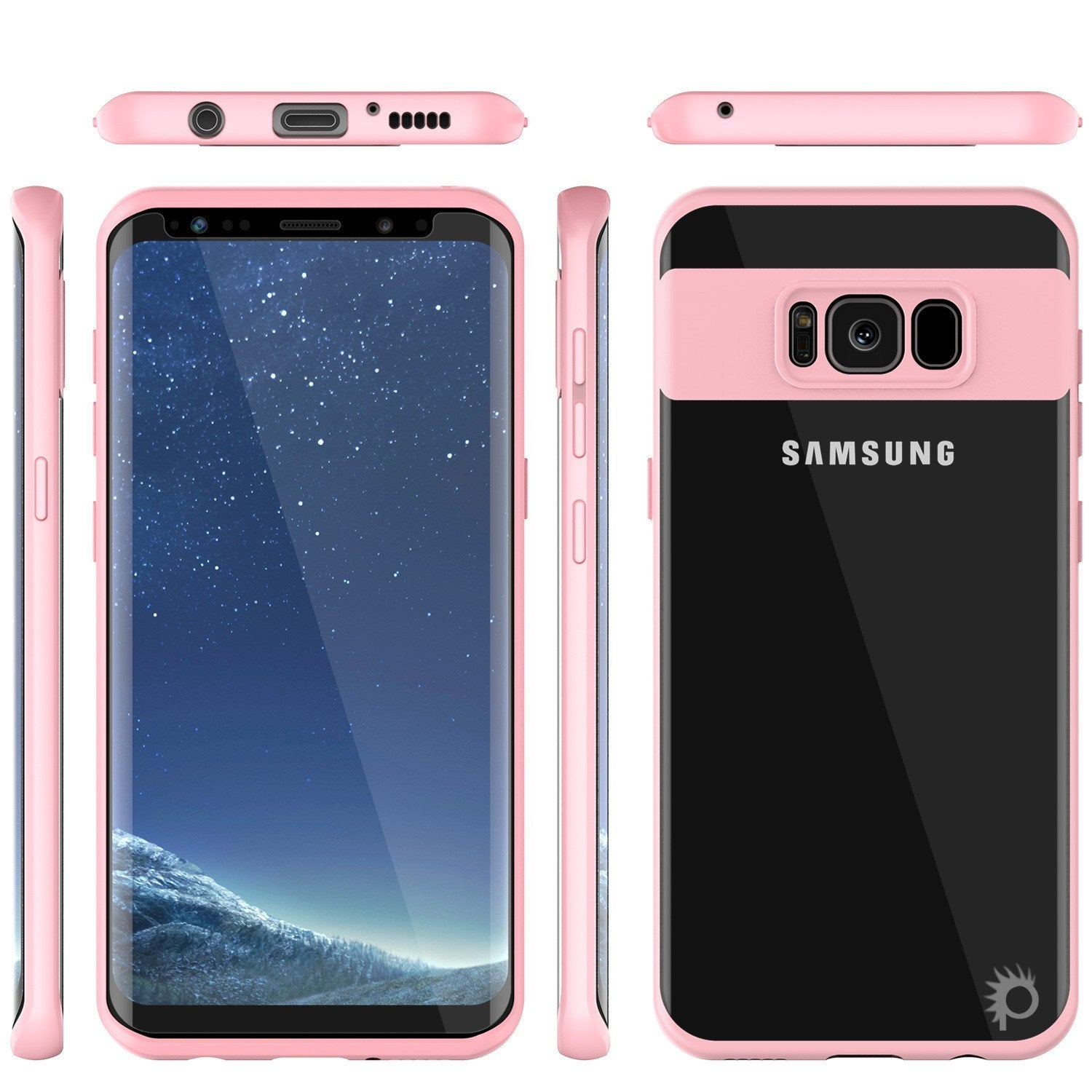 Galaxy S8 Case, Punkcase [MASK Series] [PINK]