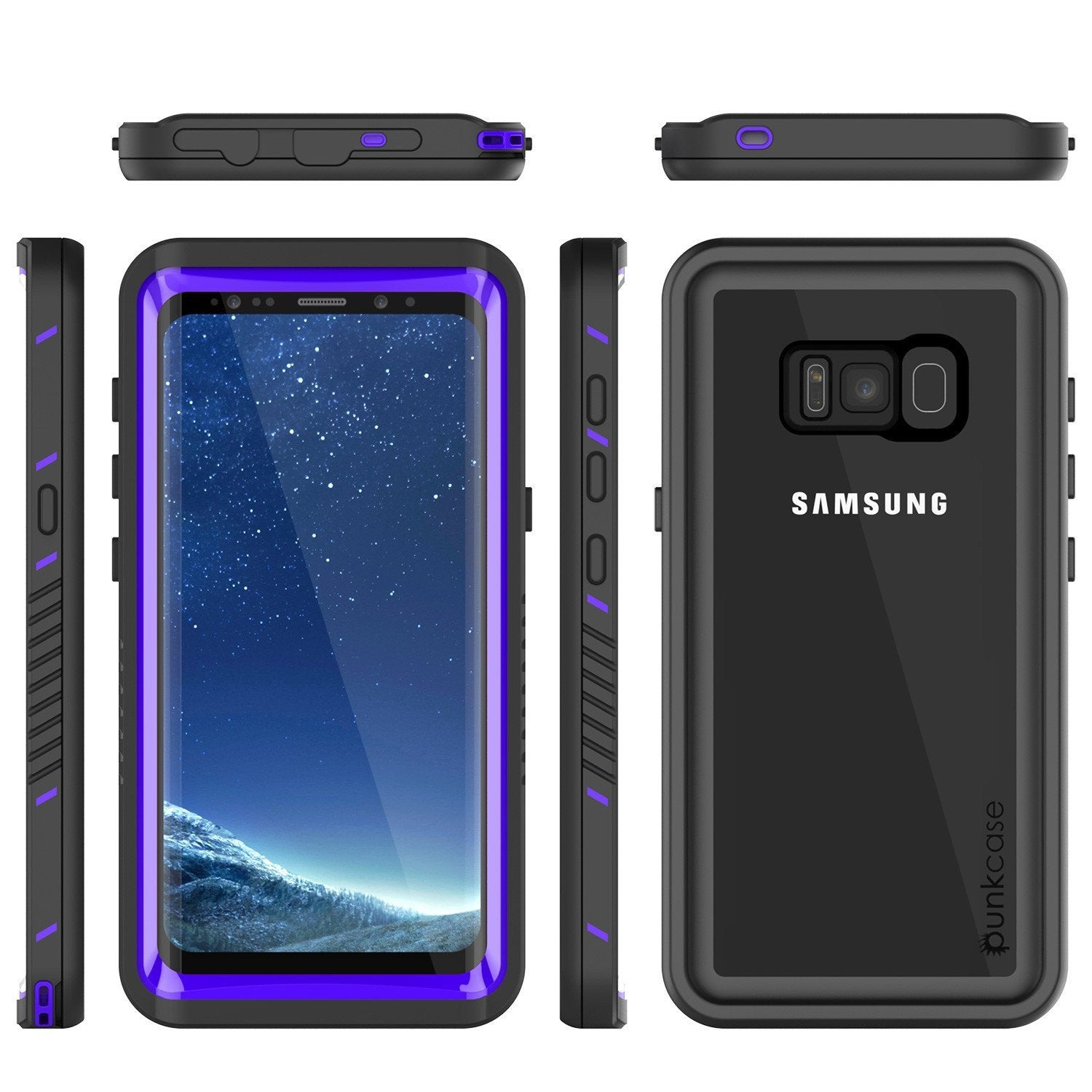 Galaxy S8 Punkcase [Extreme Series] Slim Fit Armor Cover [Purple]