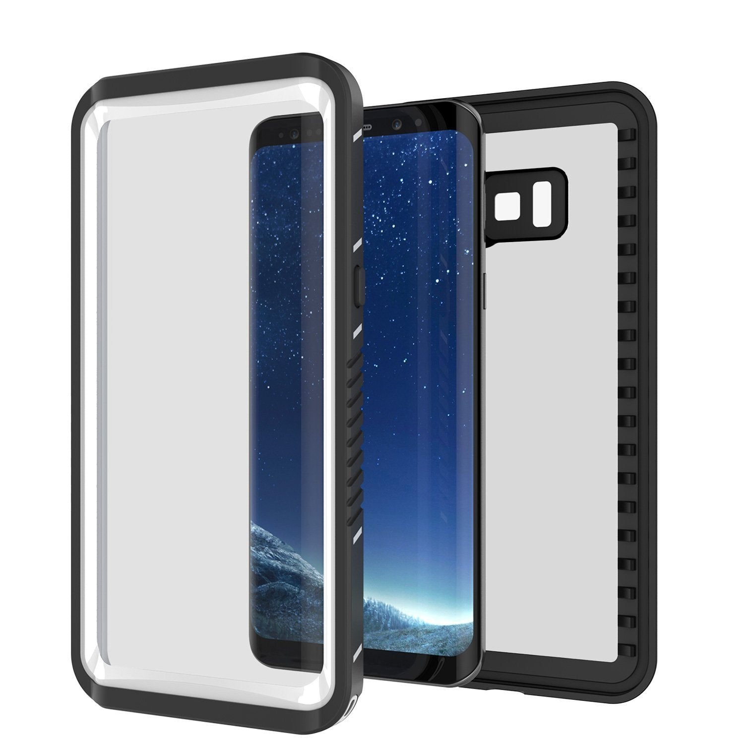 Galaxy S8 Punkcase [Extreme Series] Slim Fit Armor Cover [Black]