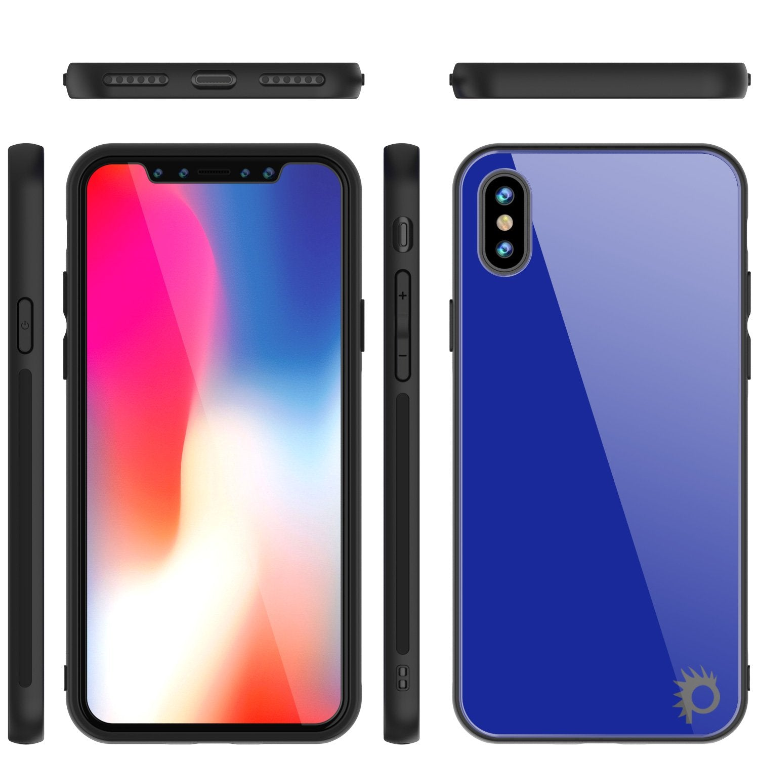 iPhone X Case, Punkcase GlassShield Ultra Thin Protectiv Cover, BLUE