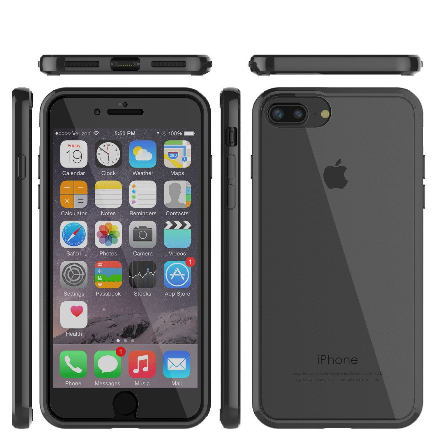 iPhone 7+ Plus Case Punkcase® LUCID 2.0 Black Series for Apple iPhone 7+ Plus Slim | Slick Frame Lifetime Warranty Exchange