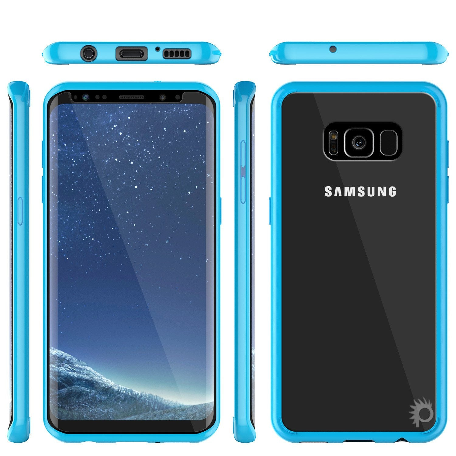 Galaxy S8 Case, Punkcase [LUCID 2.0 Series] [Slim Fit] [Light Blue]