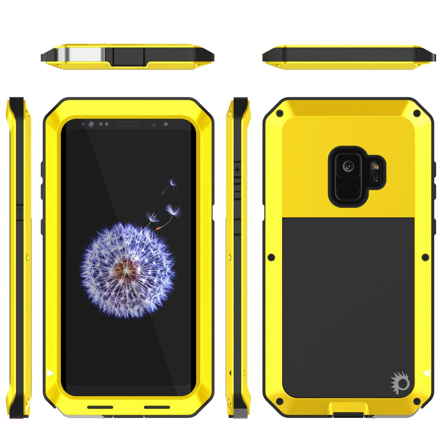 newest 1a6b7 2bcf2 Galaxy S9 Metal Case, Heavy Duty Military Grade Rugged case [Neon]