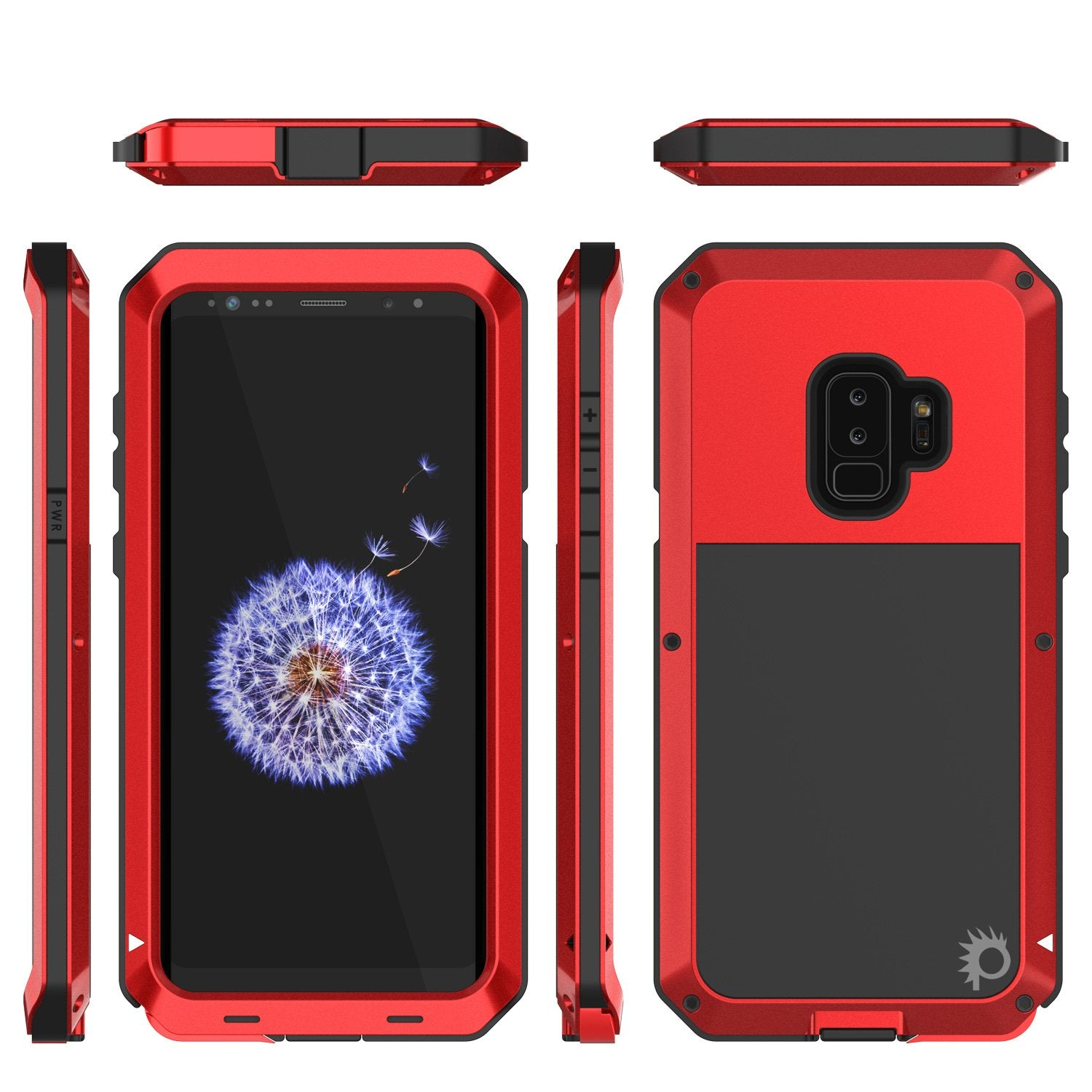 online store 0199d d35c8 Galaxy S9 Plus Metal Case, Heavy Duty Military Grade Rugged Case, Red