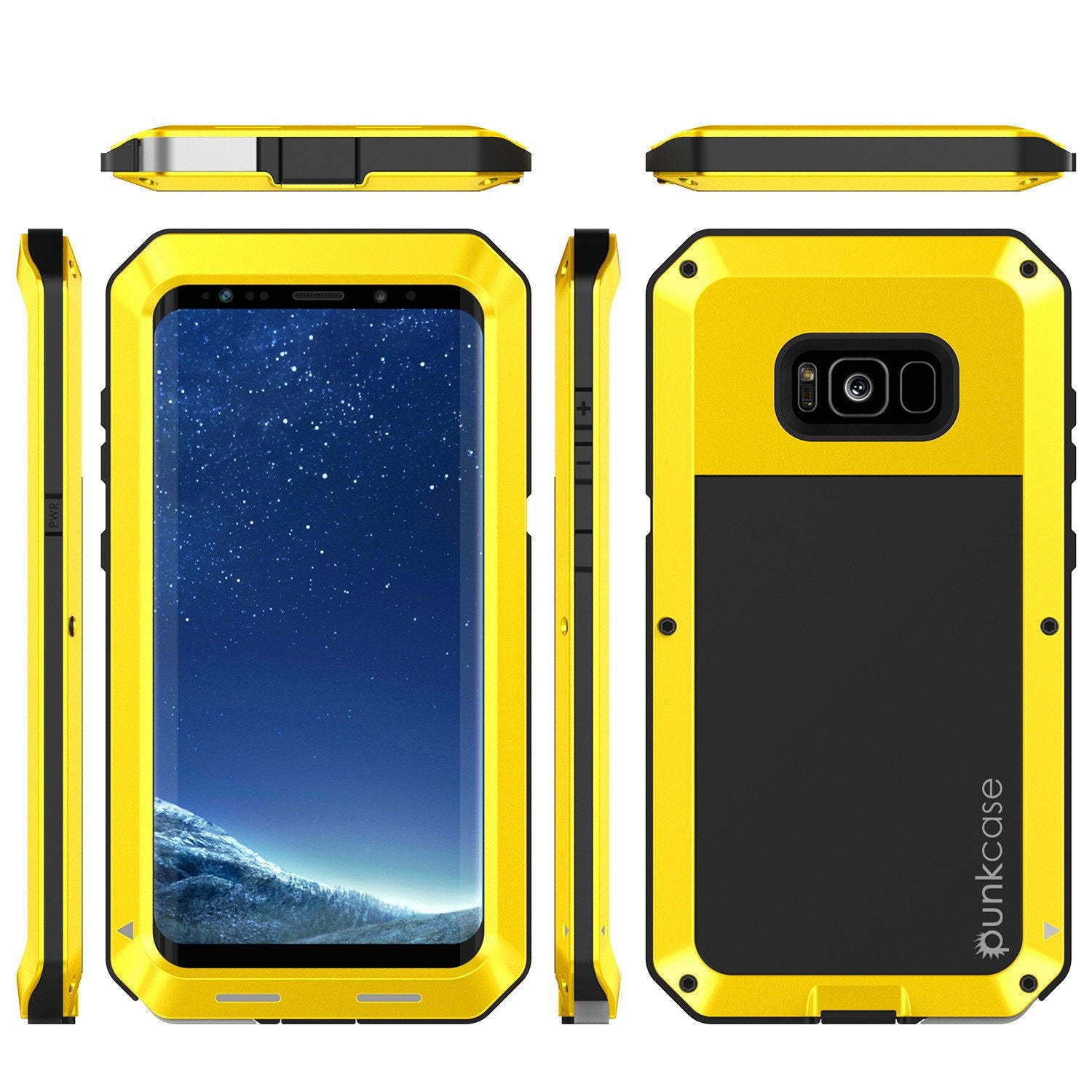 Galaxy S8 Plus Metal PunkCase, Heavy Duty Militar Armor Cover, Neon