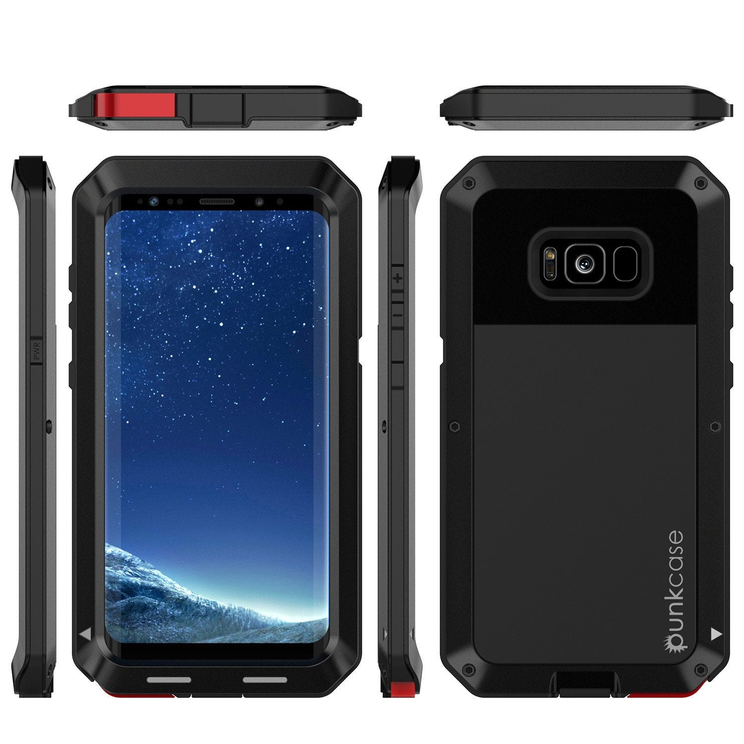 Galaxy S8 Metal Case, Heavy Duty Military Grade Rugged Cover [BLACK]