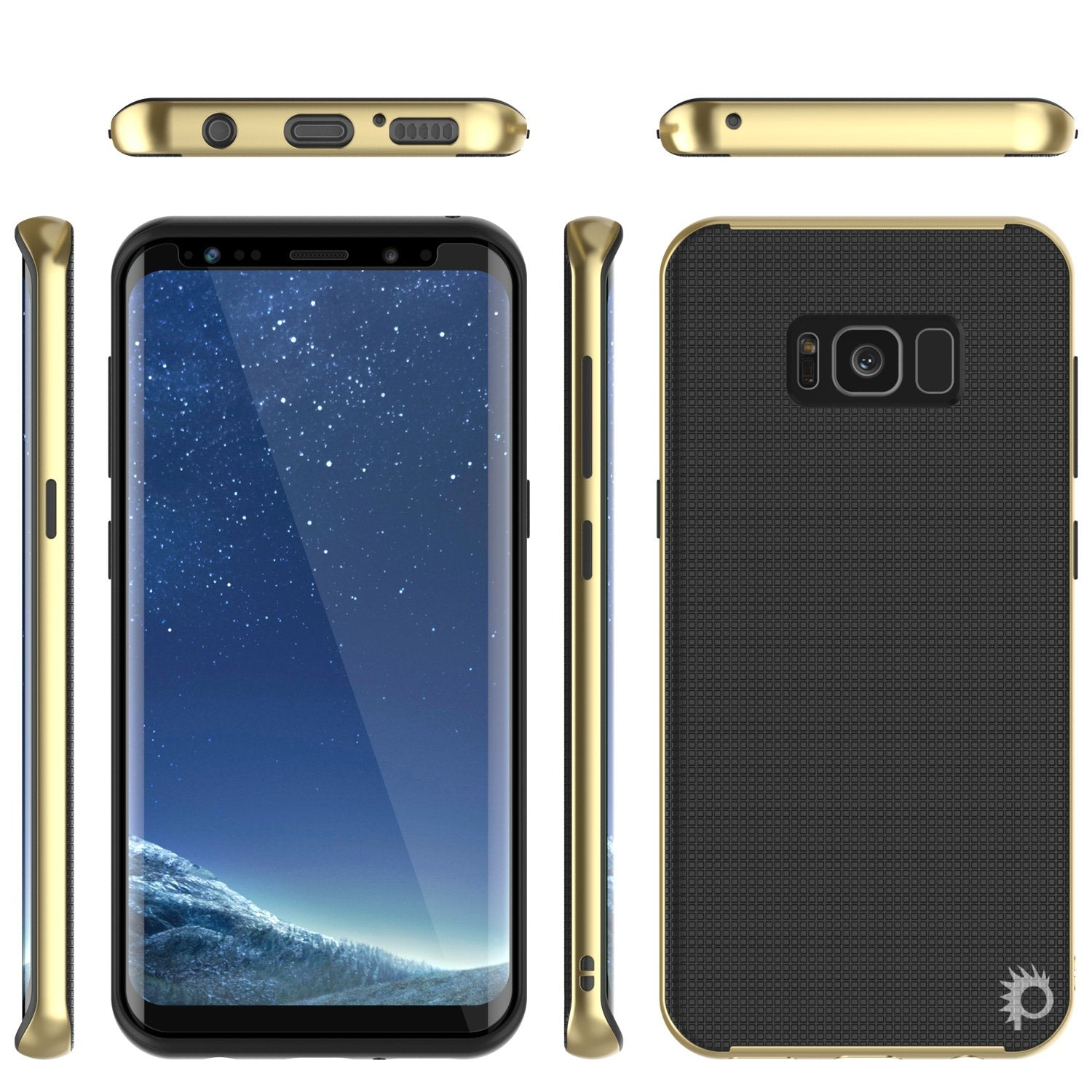 Galaxy S8 Plus PunkCase Stealth Hybrid 3-Piece Dual Layer Case, Gold