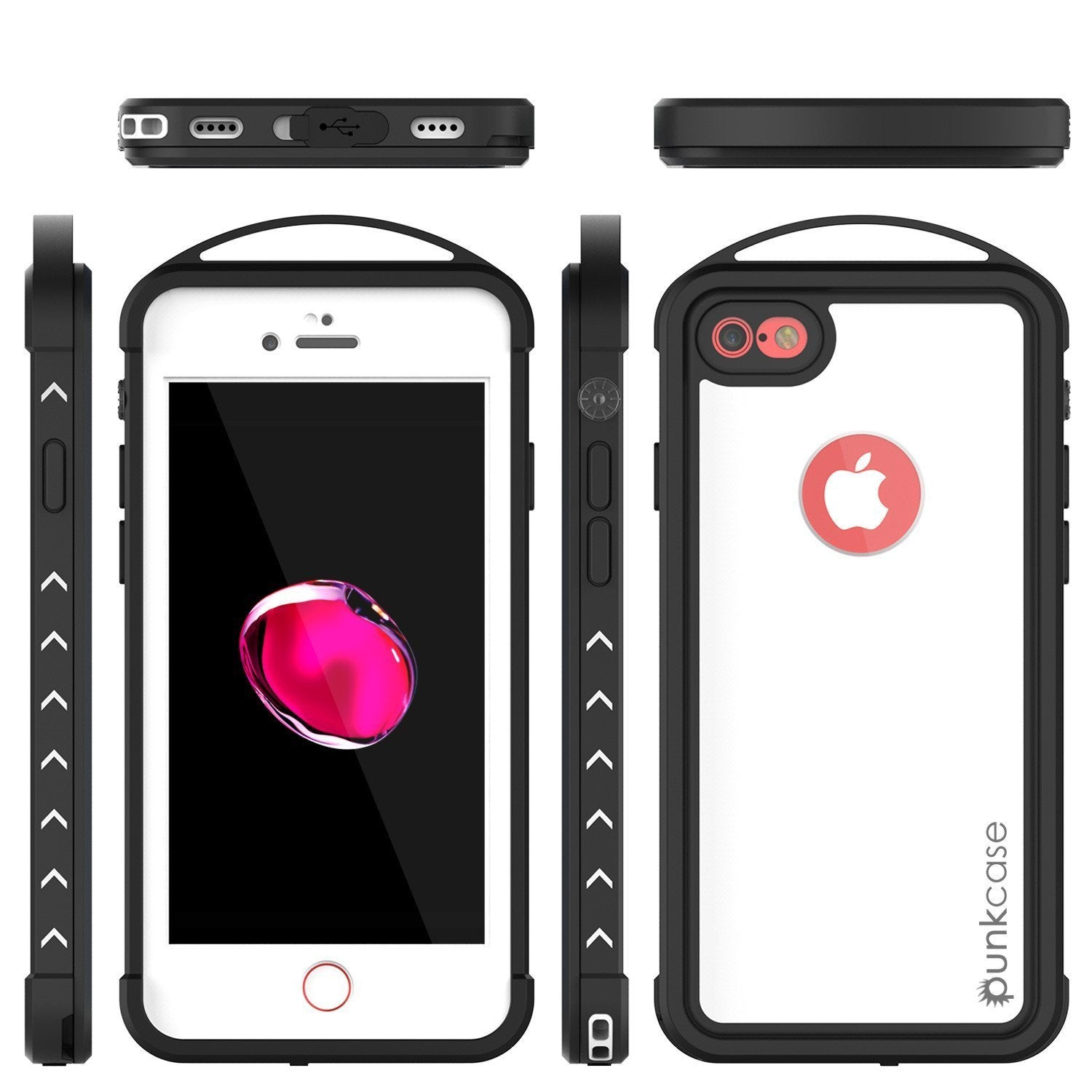 iPhone 8 Waterproof Case, Punkcase ALPINE Series, CLEAR | Heavy Duty Armor Cover