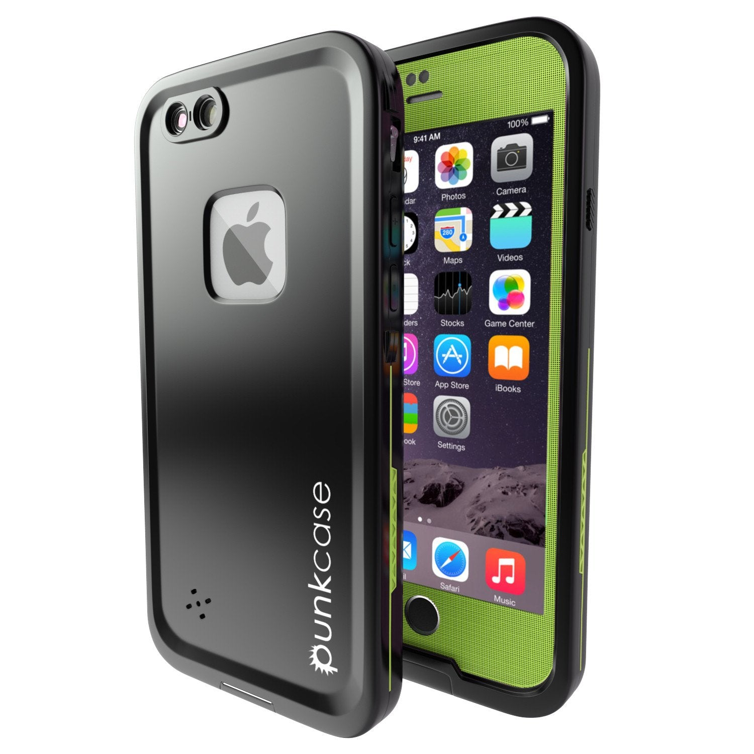 iPhone 6+/6S+ Plus Waterproof Case, Punkcase SpikeStar Light GreenThin Fit 6.6ft Underwater IP68