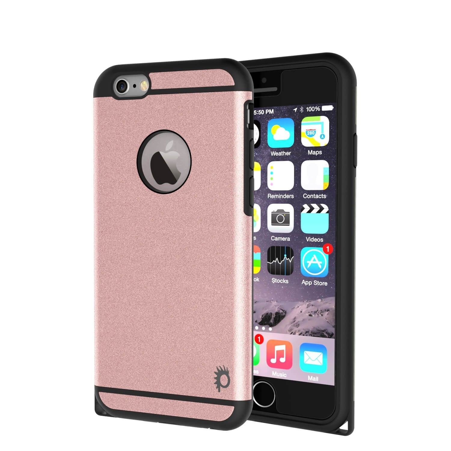 iPhone 6s Plus/6 Plus  Case PunkCase Galactic Rose Gold Slim w/ Tempered Glass | Lifetime Warranty