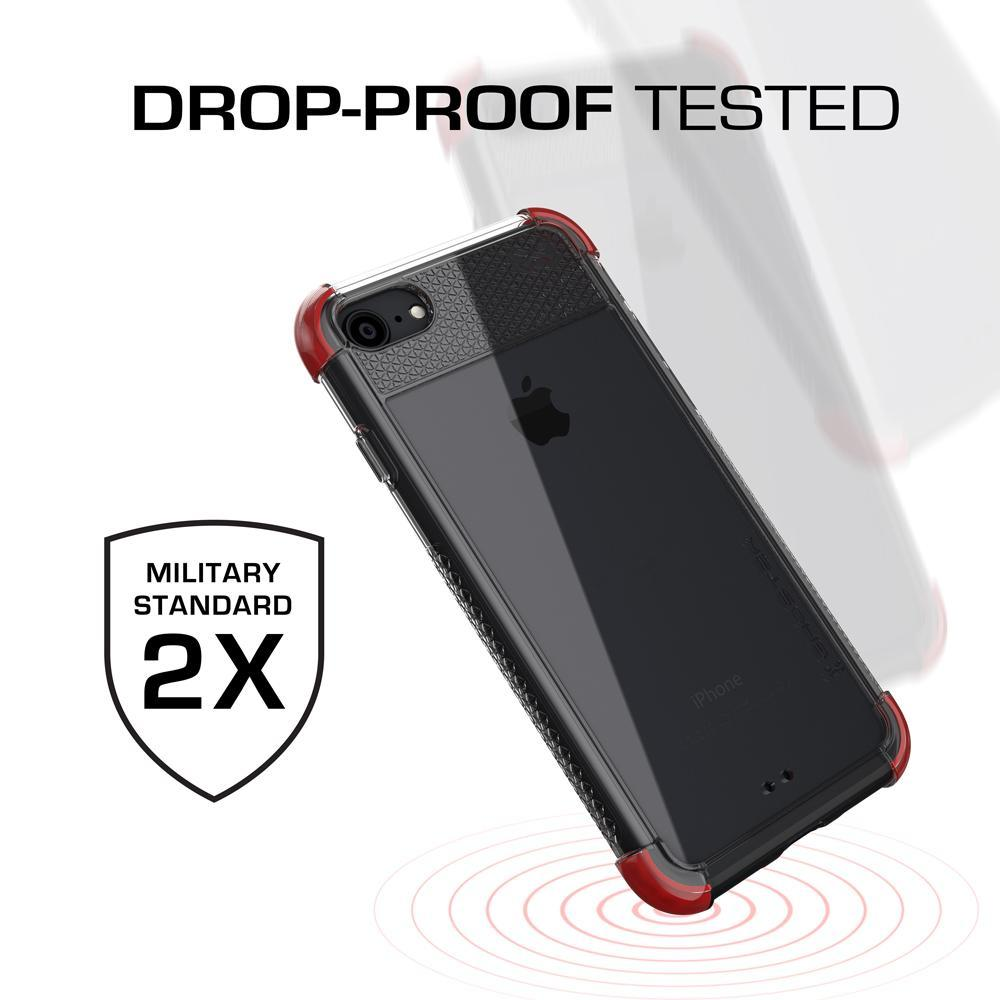 iPhone 7 Case, Ghostek® Covert 2 Series Military Drop Tested | Red