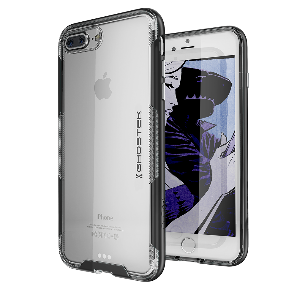 iPhone 7+ Plus Case,Ghostek Cloak 3 Series for iPhone 7+ Plus Clear Protective Case[BLACK]