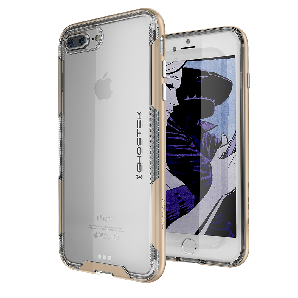iPhone 7+ Plus Case,Ghostek Cloak 3 Series for iPhone 7+ Plus Clear Protective Case[GOLD]