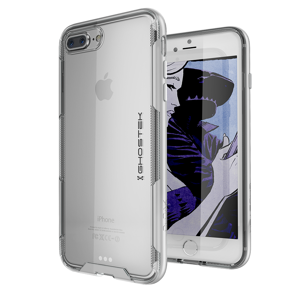 iPhone 7+ Plus Case,Ghostek Cloak 3 Series for iPhone 7+ Plus Clear Protective Case [SILVER]