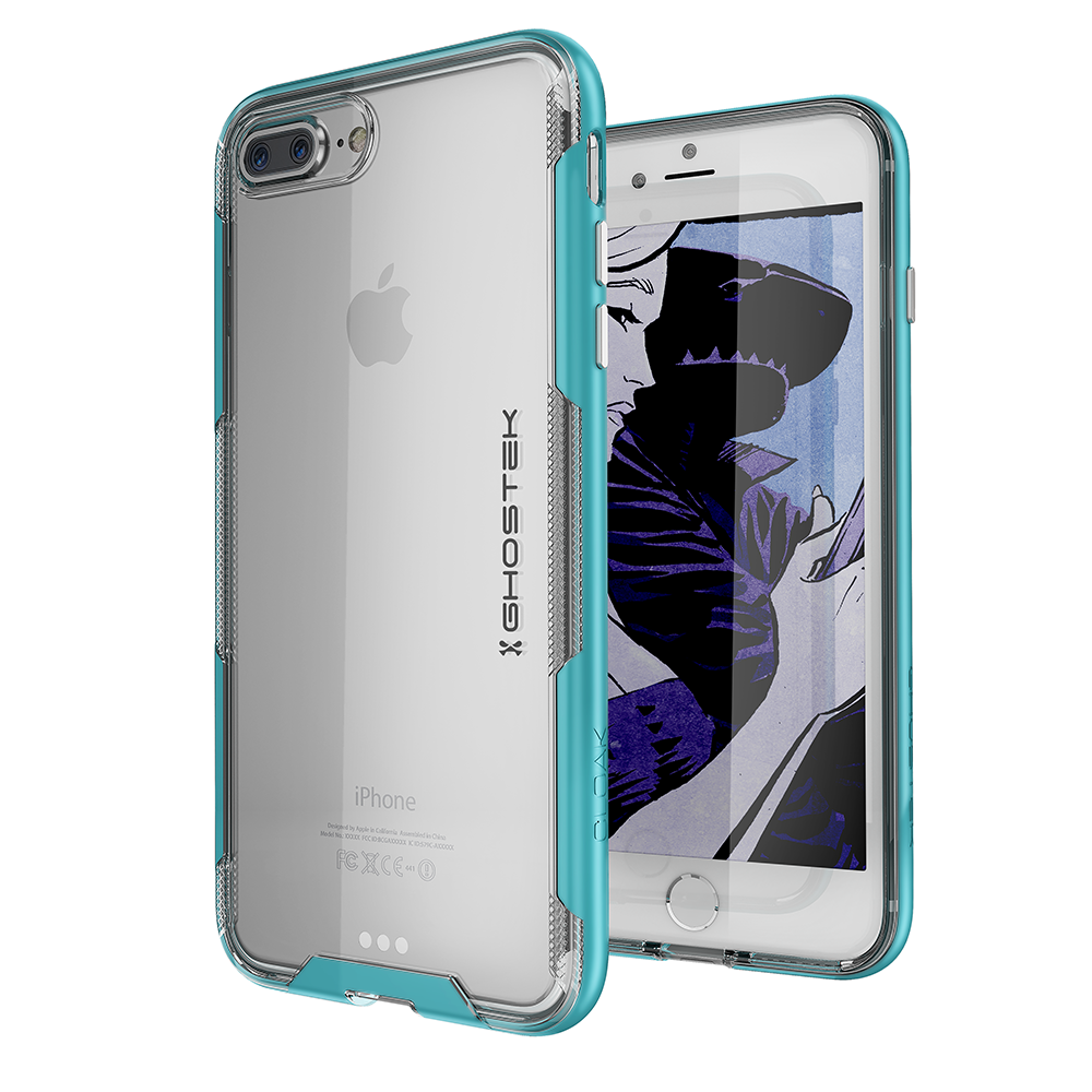iPhone 7+ Plus Case,Ghostek Cloak 3 Series for iPhone 7+ Plus Clear Protective Case [TEAL]