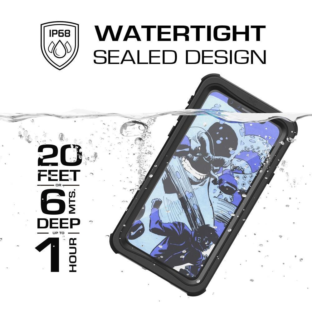 iPhone X 10 Waterproof PunkCase, Ghostek Nautical Military Grade Black