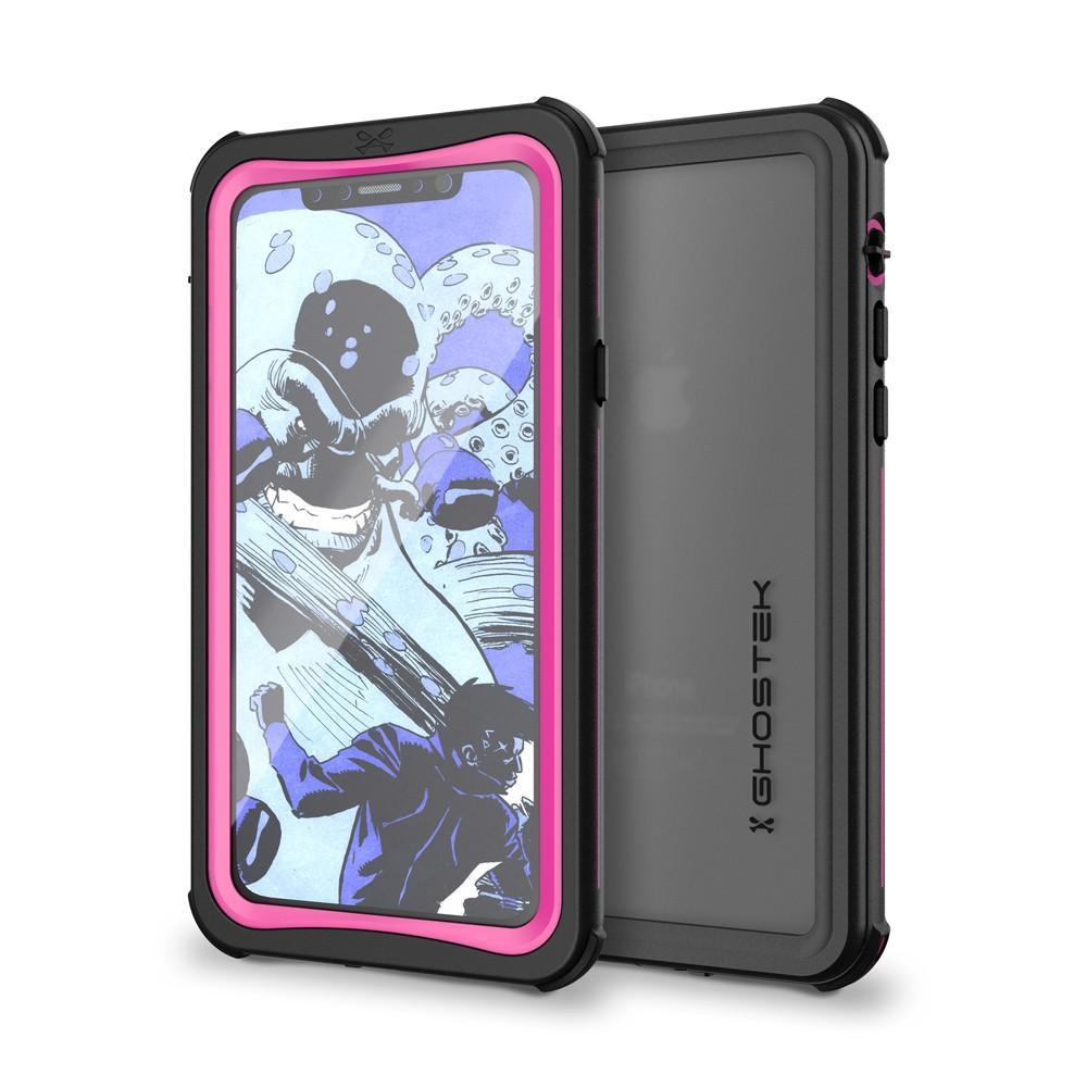 iPhone X  Case ,Ghostek Nautical Series  for iPhone X Rugged Heavy Duty Case | PINK