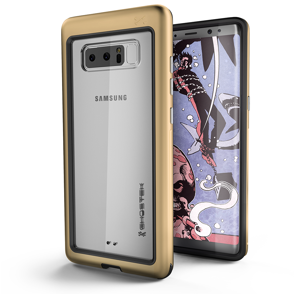 Galaxy Note 8 Punk Case, Ghostek Atomic Slim Shockproof Case, Gold