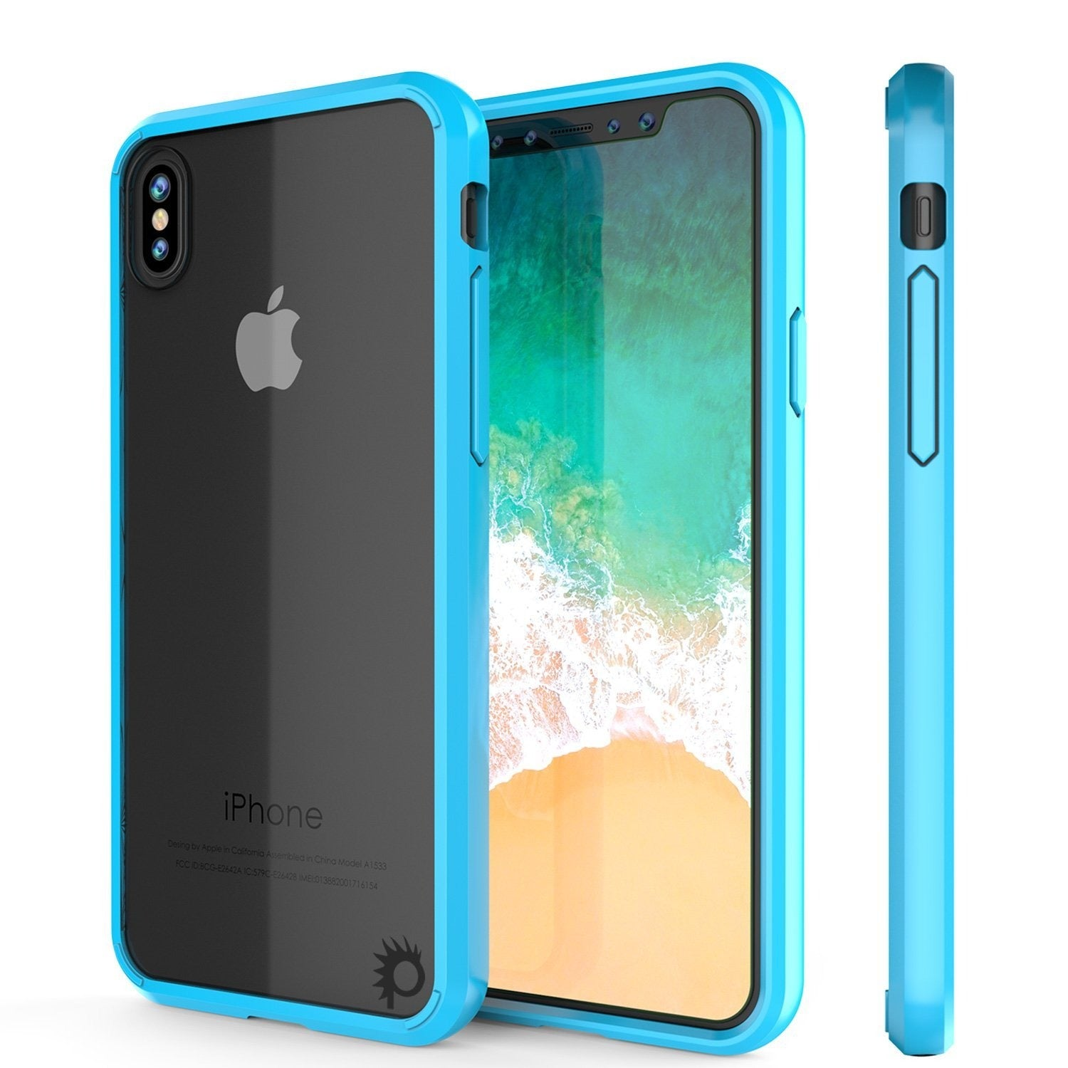 iPhone X Punkcase LUCID 2.0 Series Slim Fit Dual Layer Case Light Blue