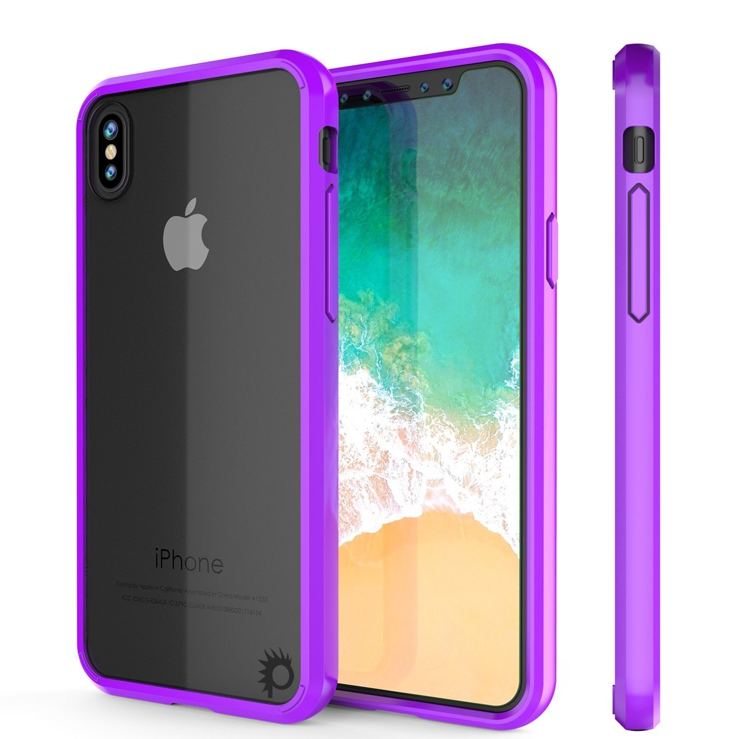 iPhone X Punkcase, LUCID 2.0 Series Slim Fit Dual Layer Cover, Purple