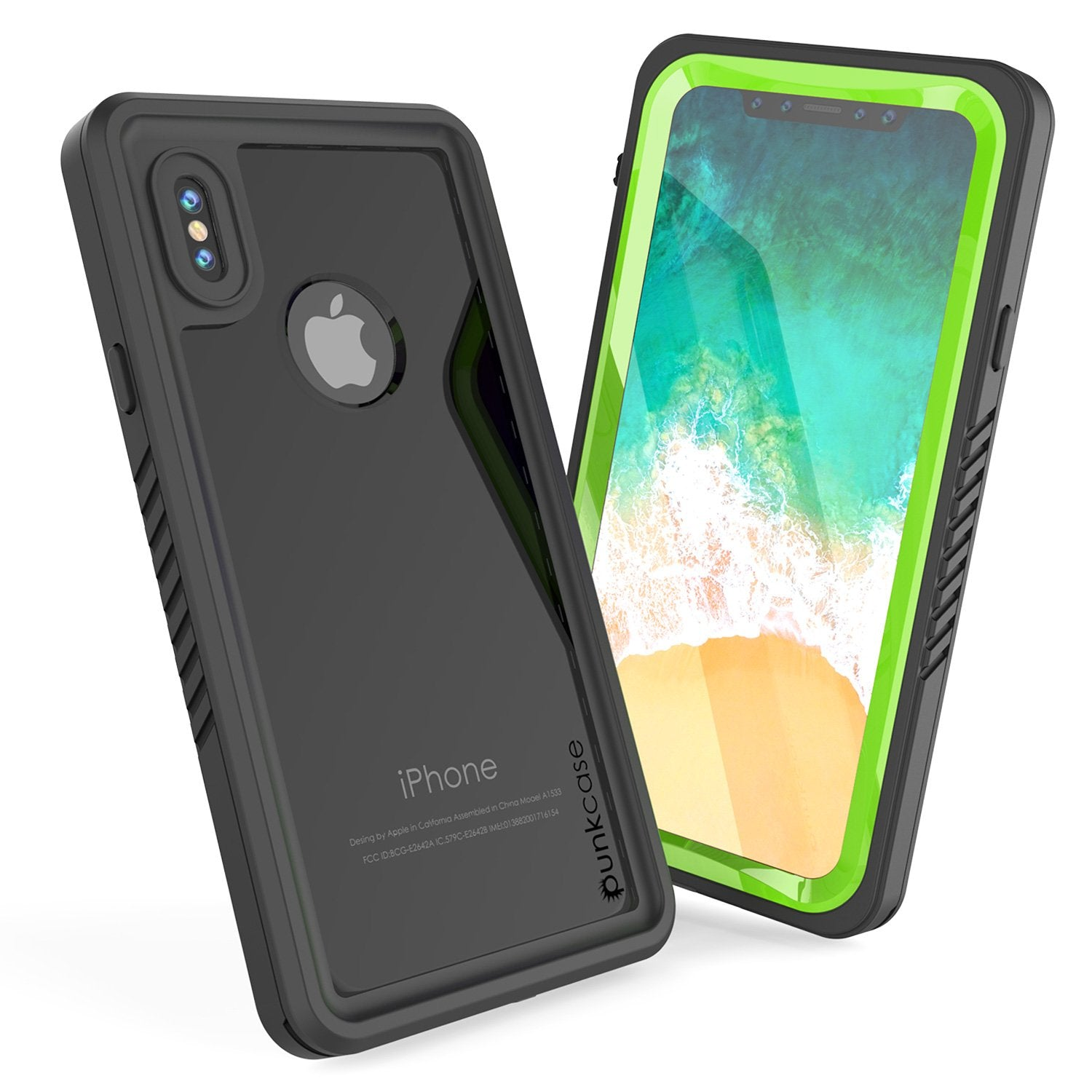 iPhone X Case, Extreme Series Cover W/Screen Protector [Light Green]