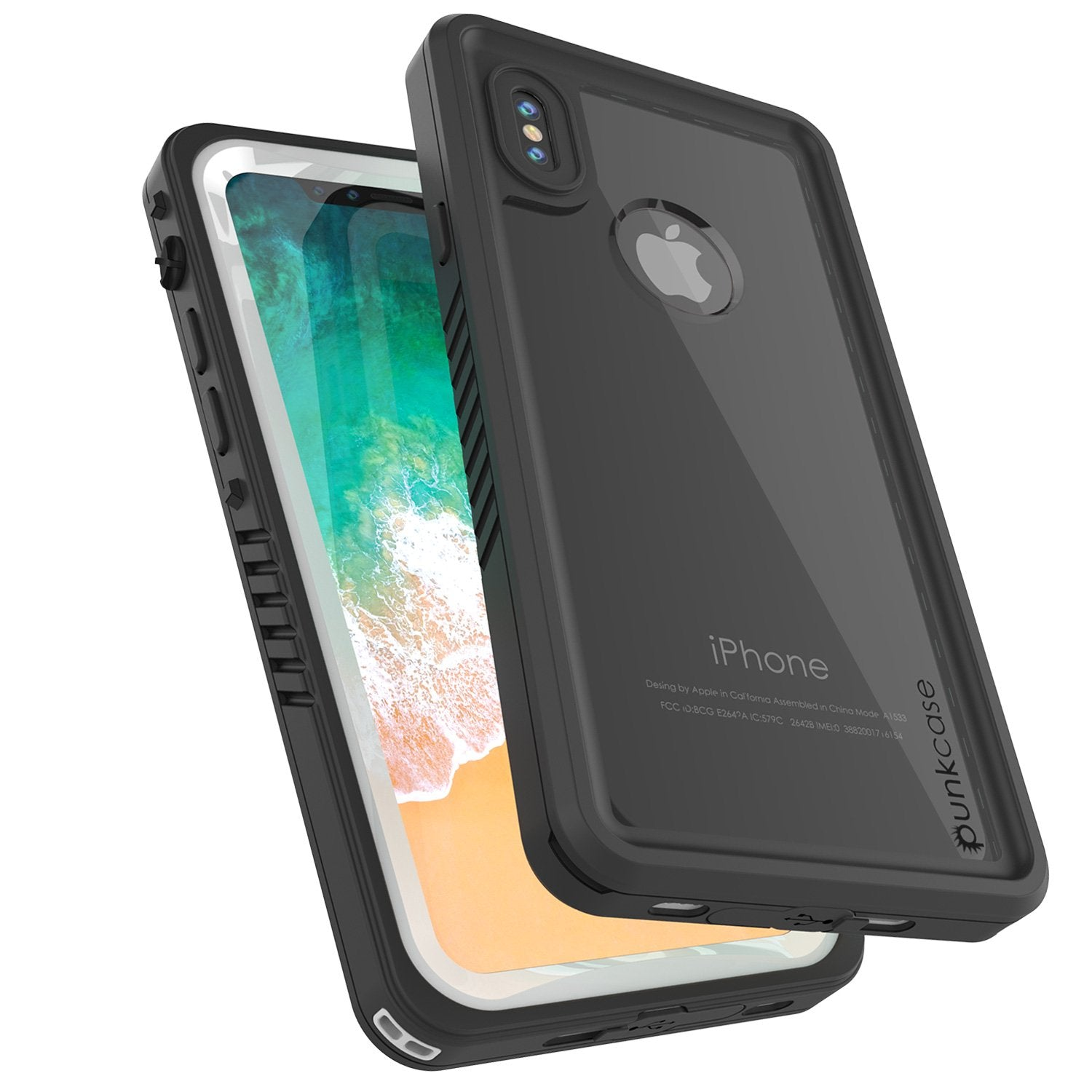 iPhone X Punkcase, Extreme Series Cover W/Screen Protector [white]