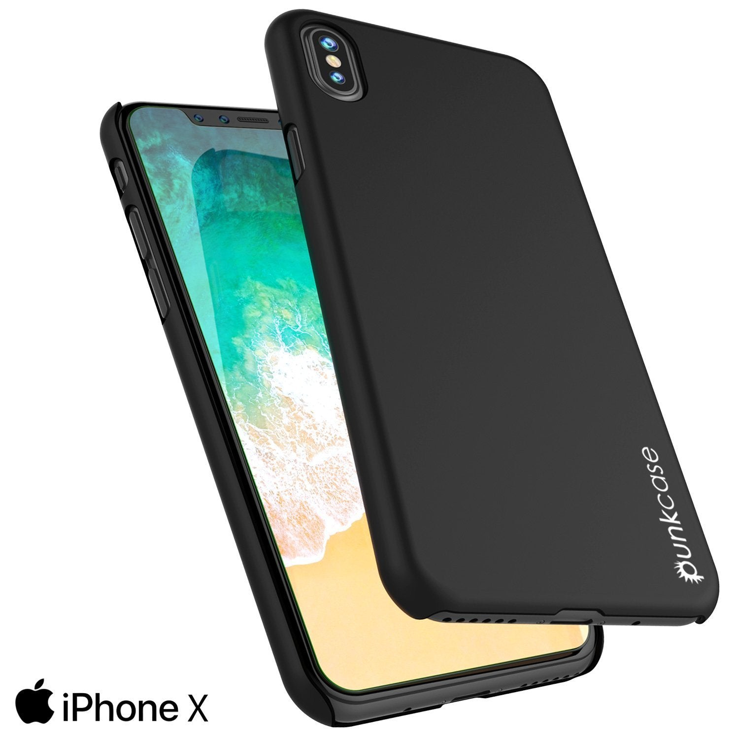 iPhone X Case, Punkcase [Solid Series] Ultra Thin Cover [black]
