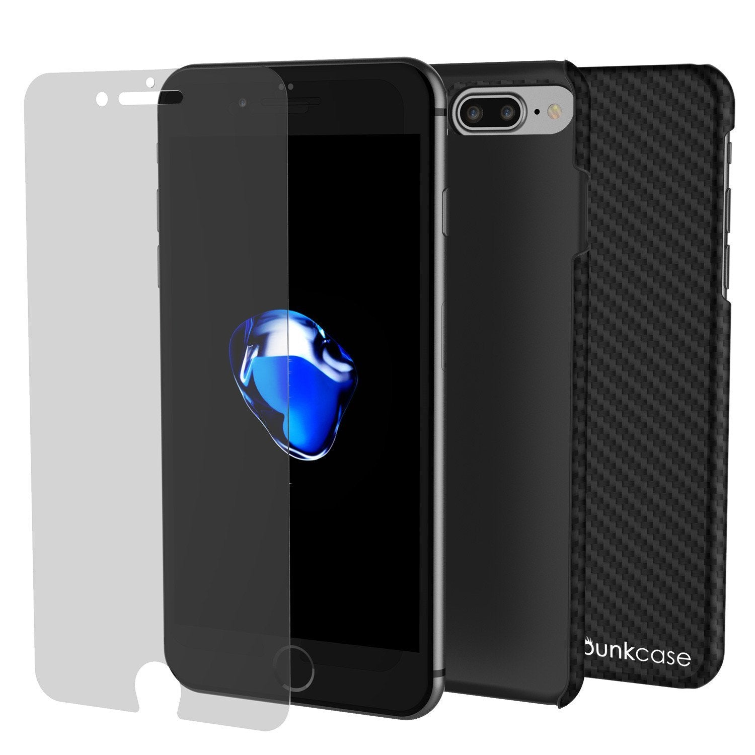 pretty nice 360a1 bd3ff iPhone 8+ Plus Case Punkcase CarbonShield, Shockproof, Ultra Thin 2 Piece  (jet black)