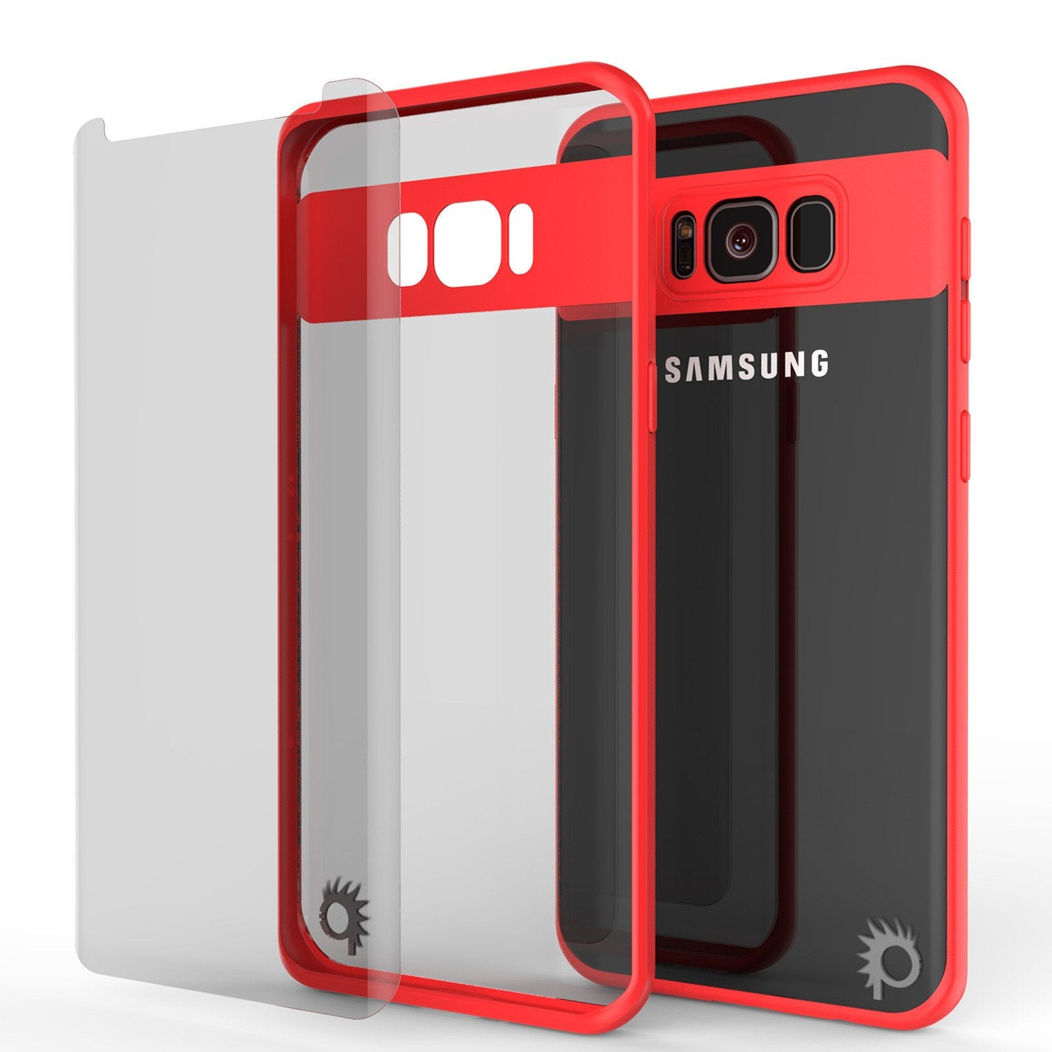 Galaxy S8 Plus Punkcase MASK Series Full Body Dual Layer Cover, RED