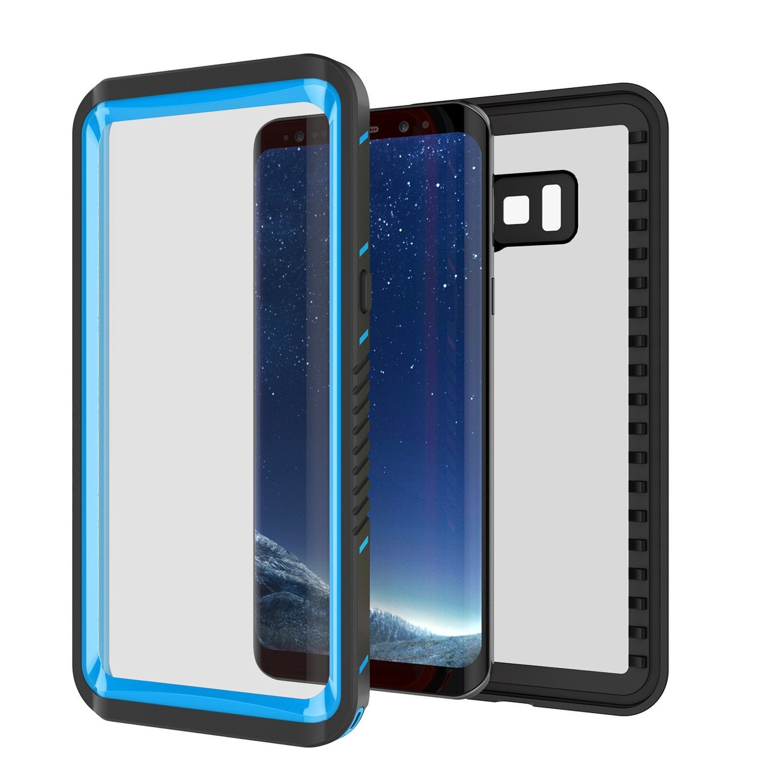 Galaxy S8 Punkcase Extreme Series Slim Fit Armor Cover [Light Blue]