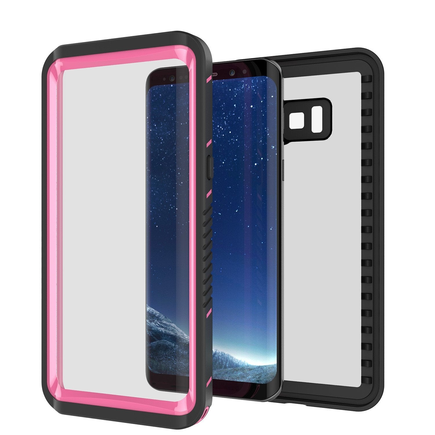 Galaxy S8 Plus Punkcase Extreme Series Slim Fit Armor Case, Pink