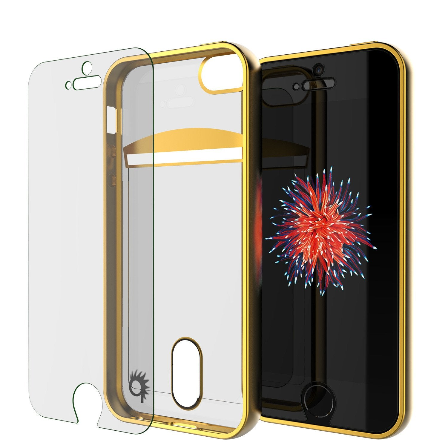 iPhone SE/5S/5 Case, PUNKCASE® LUCID Gold Series Ultra fit