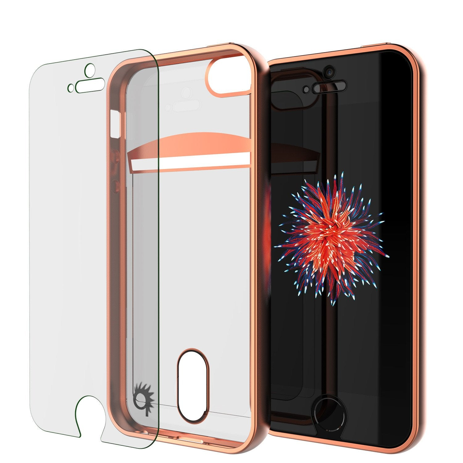 iPhone SE/5S/5 Case, PUNKCASE® LUCID Rose Gold Series | Card Slot | Screen Protector | Ultra fit
