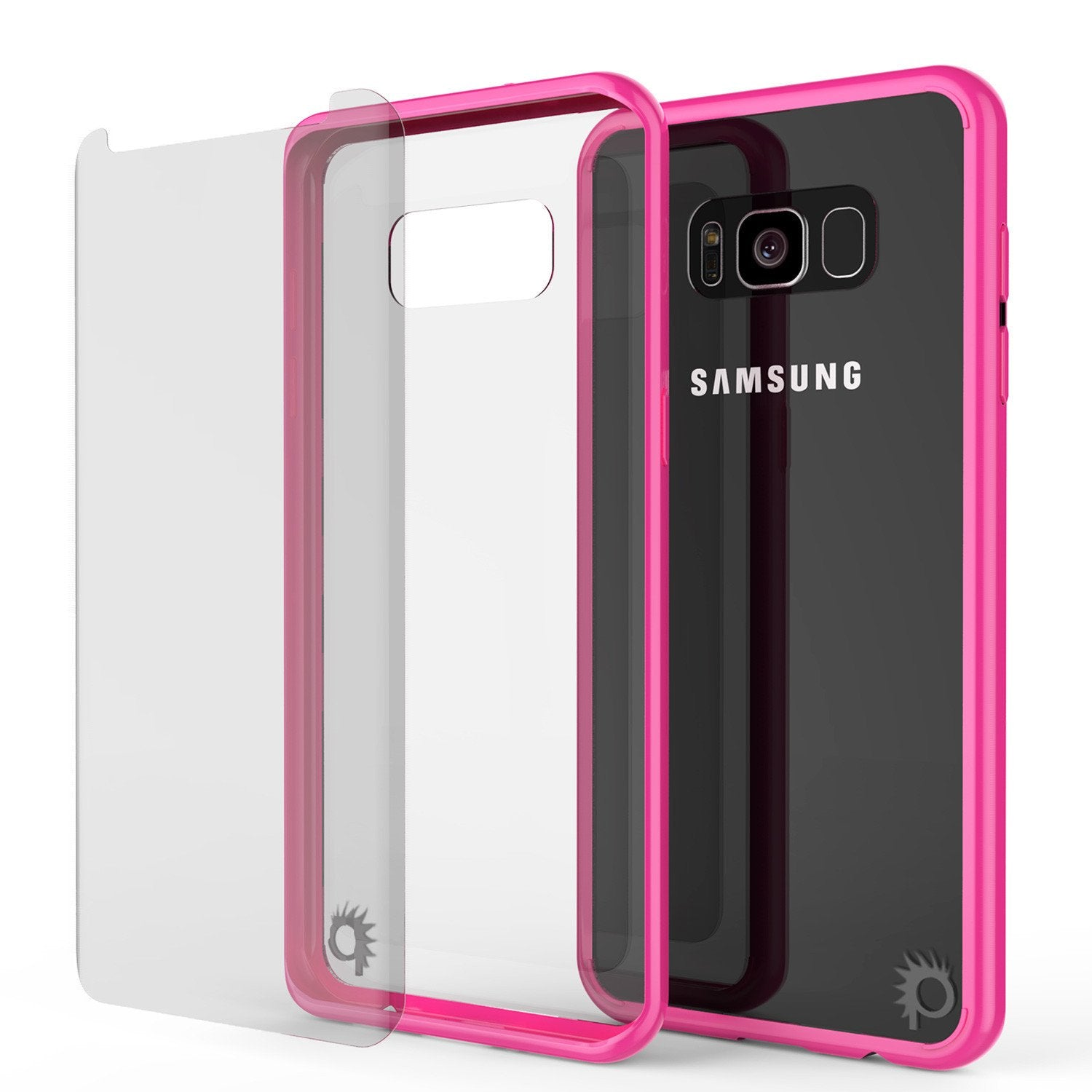 Galaxy S8 Plus Punkcase LUCID 2.0 Series Clear Back Case [Pink]