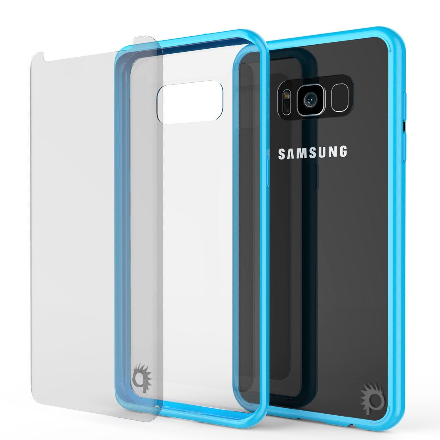 Galaxy S8 Plus Punkcase LUCID 2.0 Series Clear Back Case, Light Blue