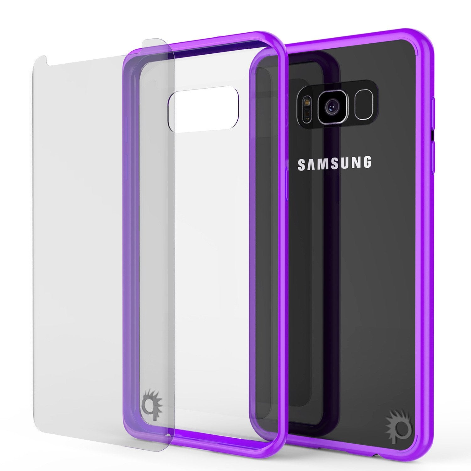 Galaxy S8 Plus Punkcase LUCID 2.0 Series Clear Back Case, Purple