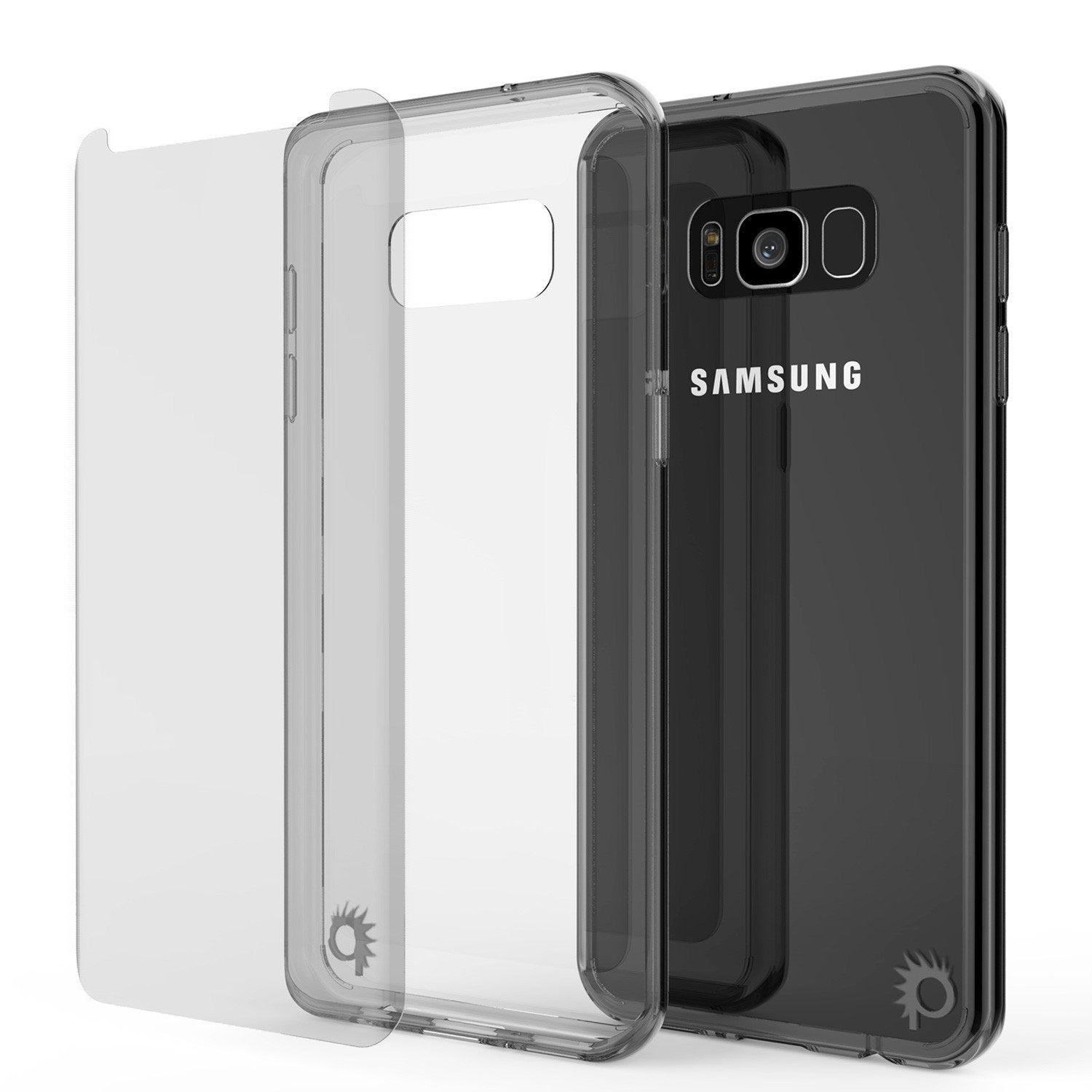Galaxy S8 Plus Punkcase LUCID 2.0 Series Clear Back Case Crystal Black