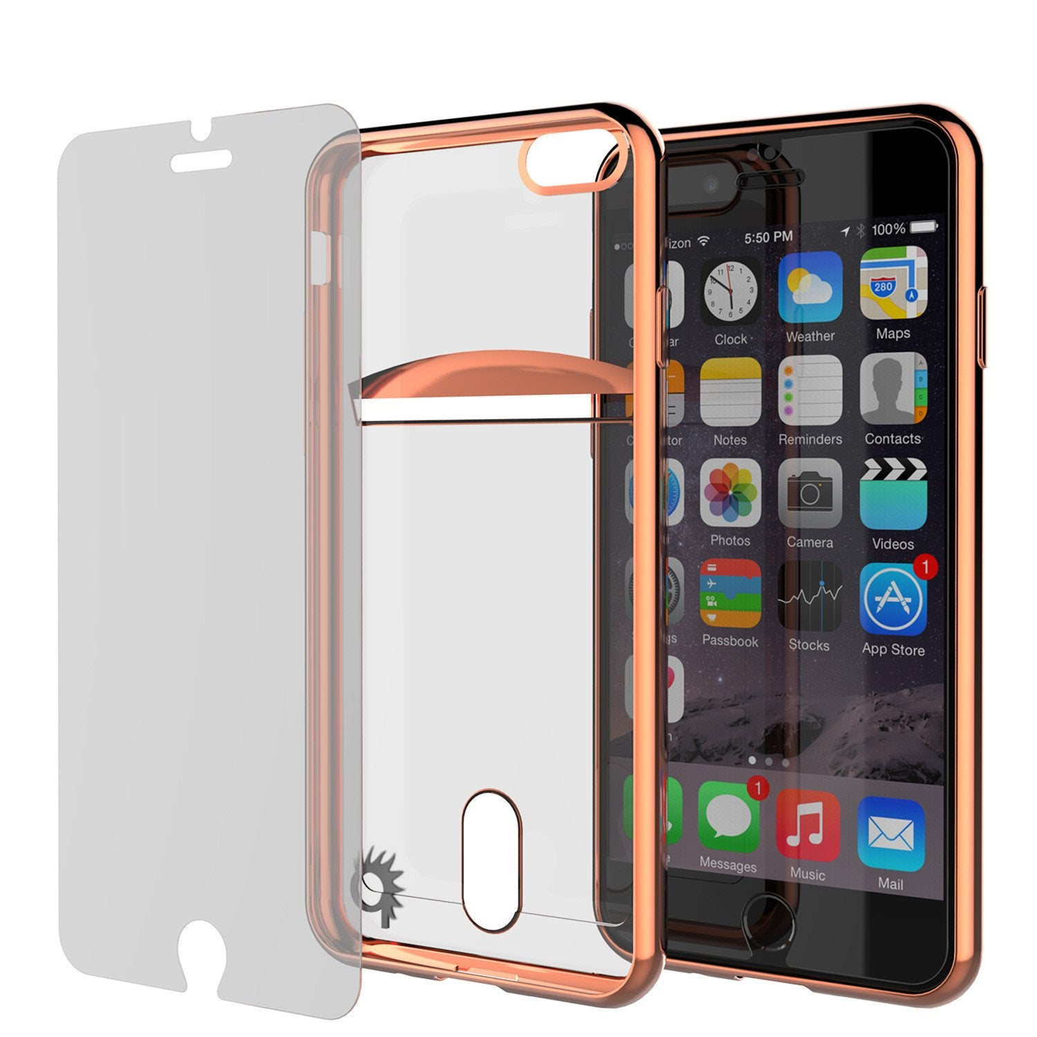 iPhone 7+ Plus Case, PUNKCASE® LUCID Rose Gold Series for iPhone 7+ Plus Premium Impact Protective Armor Case Cover | Clear TPU | Lifetime Warranty Exchange | PUNK SHIELD Screen Protector | Ultra Fit
