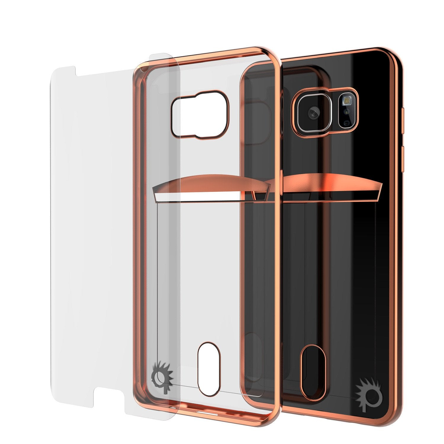 Galaxy S6 Case, PUNKCASE® LUCID Rose Gold Series | Card Slot