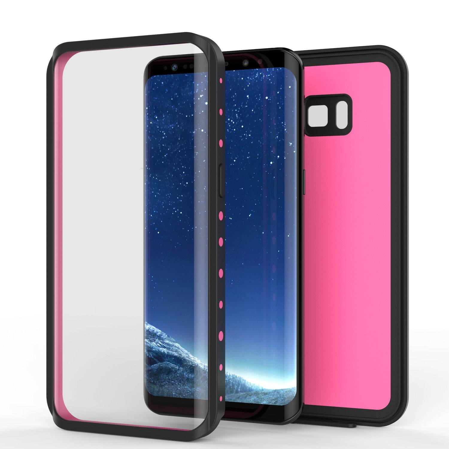 Galaxy S8 Waterproof Punkcase [StudStar Series] [Slim Fit], Pink